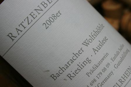 2008 Bacharacher Wolfshöhle Riesling Auslese Goldkapsel