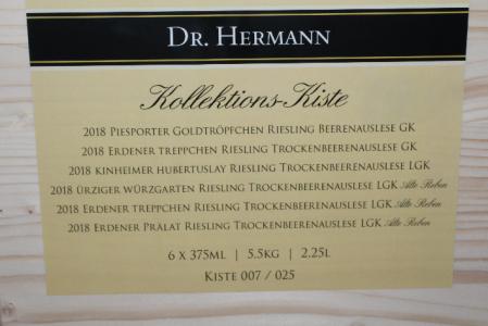 2018 Kollektionskiste Dr.Hermann edelsüß - 6x 375 ml - Kiste 007 von 25 | 581 von 100 Parker Punkten