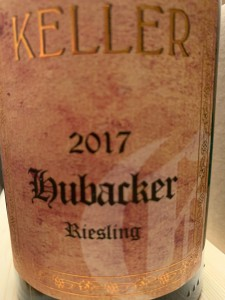 2017 HUBACKER Riesling GG