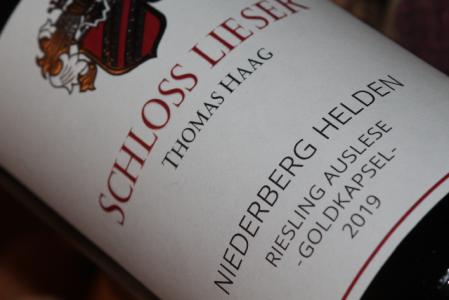 2019 NIEDERBERG HELDEN Riesling Auslese Goldkapsel | Halbflasche
