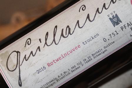 2016 Rotwein Cuvée Guillaume | Pfalz | Friedrich Becker